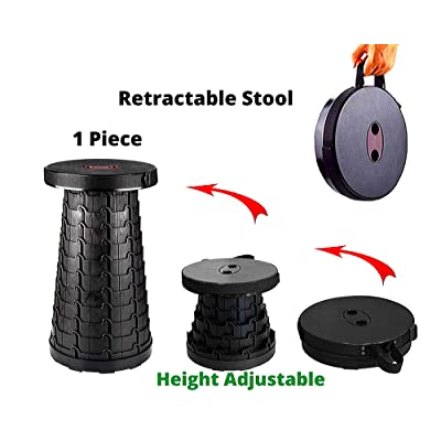 Trupeaker Folding Stool-Lightweight Plastic Retractable Stool Adults Kids Camping BBQ Fishing Travel Outdoors Portable Stool This Telescopic Stool & Collapsible Stool Indoors Chair Max Load 573lbs: Kitchen & Dining
