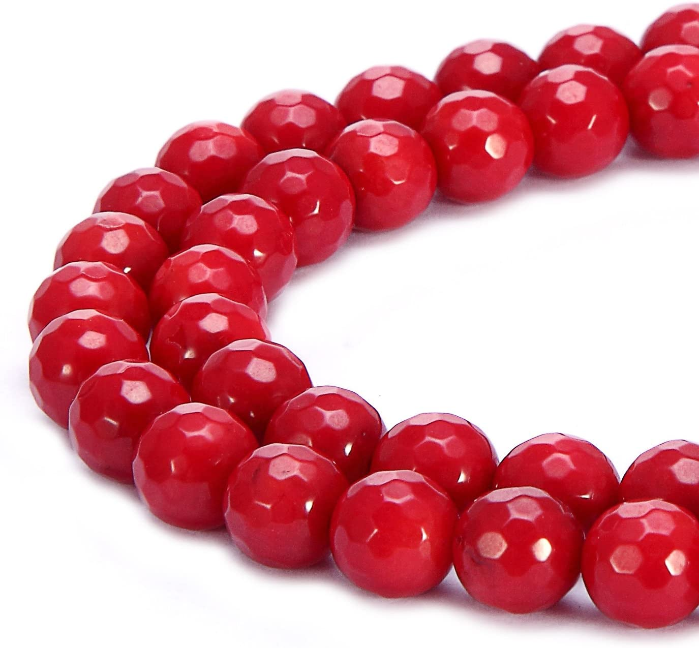 BRCbeads Natural Africa Red Japser Gemstone Loose Beads Faceted Round 4mm Crystal Energy Stone Healing Power for Jewelry Making