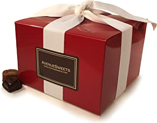 product image for AvenueSweets - Handcrafted Individually Wrapped Soft Caramels - Red 1.5 lb Gift Box - Customize Your Flavors
