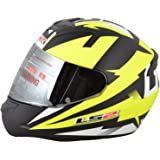 LS2 DYNO Full Face Helmets (Yellow, Large)