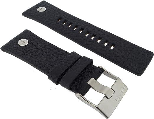 bracelet cuir noir pour montre