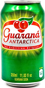 Guaraná Antarctica, Guaraná Flavoured Soft Drink, Made From Amazon Rainforest Fruit, Imported from Brazil, 350ml, (Pack Of 1