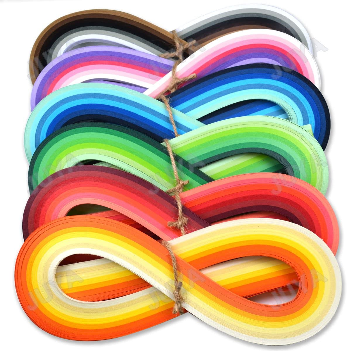 7 Yellow Colors,Width 10mm Juya Paper Quilling Set 54cm Length Up to 42 Shade Colors 6 pack