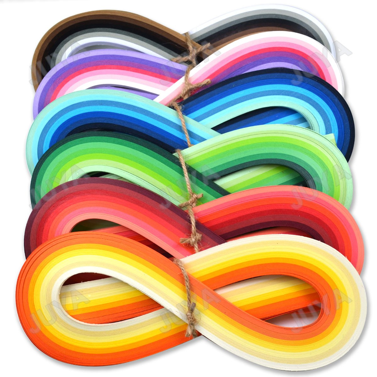 Juya Paper Quilling Set 54cm Length Up to 42 Shade Colors 6 Pack 7 Brown Colors,Width 10mm