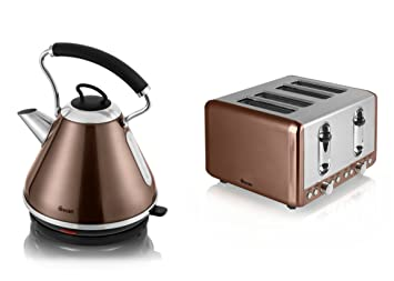 swan kitchen appliance copper townhouse set   1 7l pyramid kettle and 4 slice toaster swan kitchen appliance copper townhouse set   1 7l pyramid kettle      rh   amazon co uk