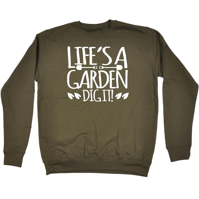 Amazon.com: 123t Life\'s A Garden Dig It - SWEATSHIRT: Clothing
