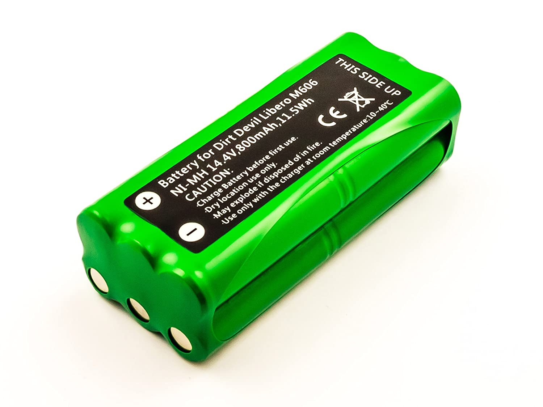 0606004 Saugroboter original vhbw® AKKU 14.4V 800mAh für DIRT Devil Libero M606
