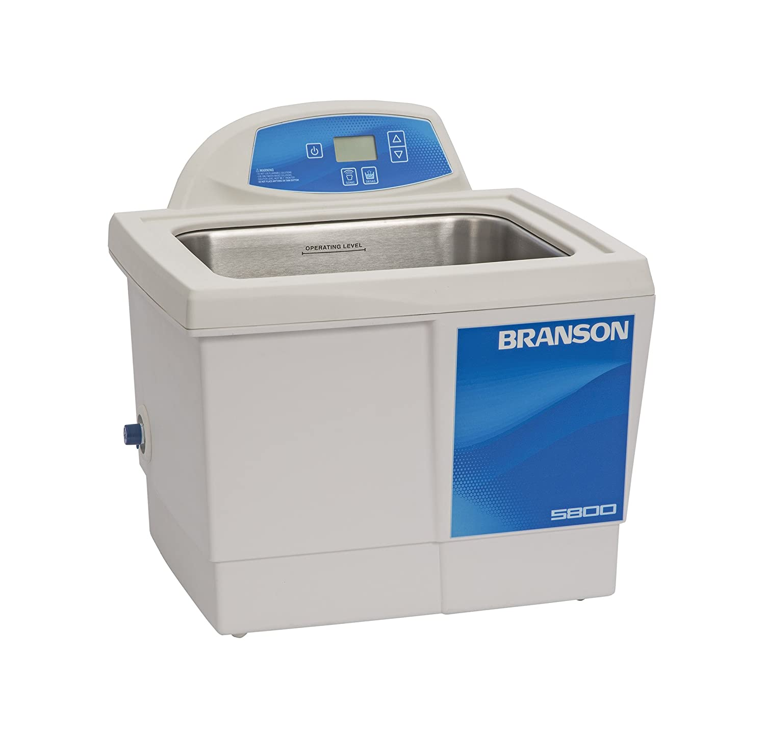Branson CPX-952-518R Series CPXH Digital Cleaning Bath with Digital Timer and Heater, 2.5 Gallons Capacity, 120V