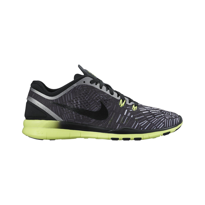 Nike Women's Free 5.0 Tr Fit Black/Volt/Metalic Silver 704695-017 (Size: 5) by Nike (Image #1)