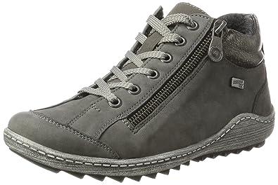 Remonte R1401, Sneakers Basses Femme, Noir (Schwarz/Schwarz/Altsilber/Schwarz), 40 EU