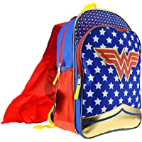 Wonder Woman Girls Backpack w/Detachable Cape Standard