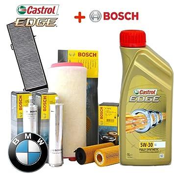 Kit de revisión y aceite Castrol Edge (6 litros) y 4 filtros: Amazon.es: Coche y moto