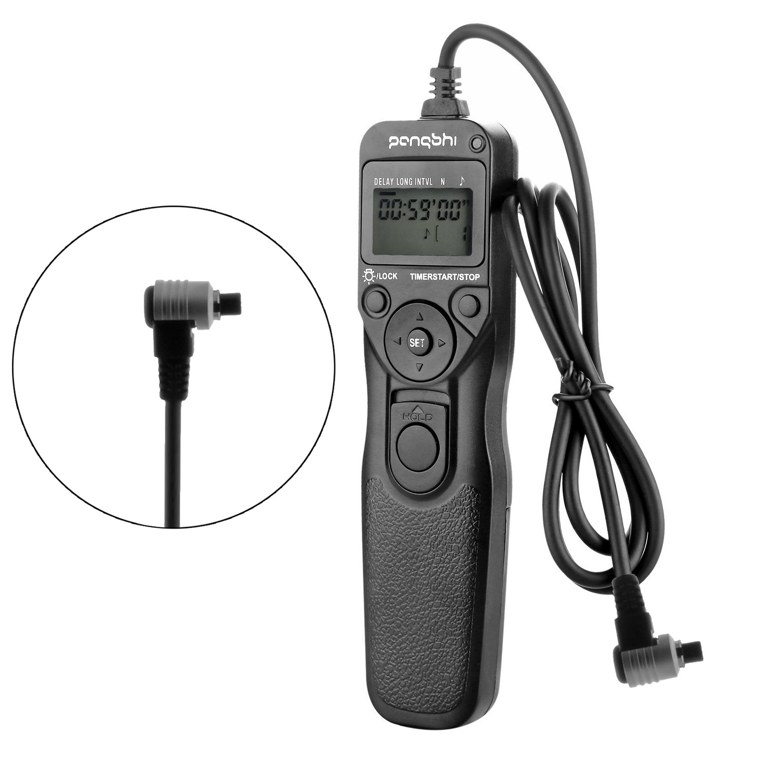 Portable Wired Timer Shutter Remote Release Control Cable Cord RS-80N3 for for Canon EOS-1V/1VHS EOS-3 EOS D2000 D30 D60 1D 1Ds 1D Mark II/III/IV 5D Mark II 5DS EOS-10D 20D 20Da 30D 40D 50D 5D 7D