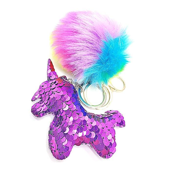 Llavero lentejuelas de Unicornio