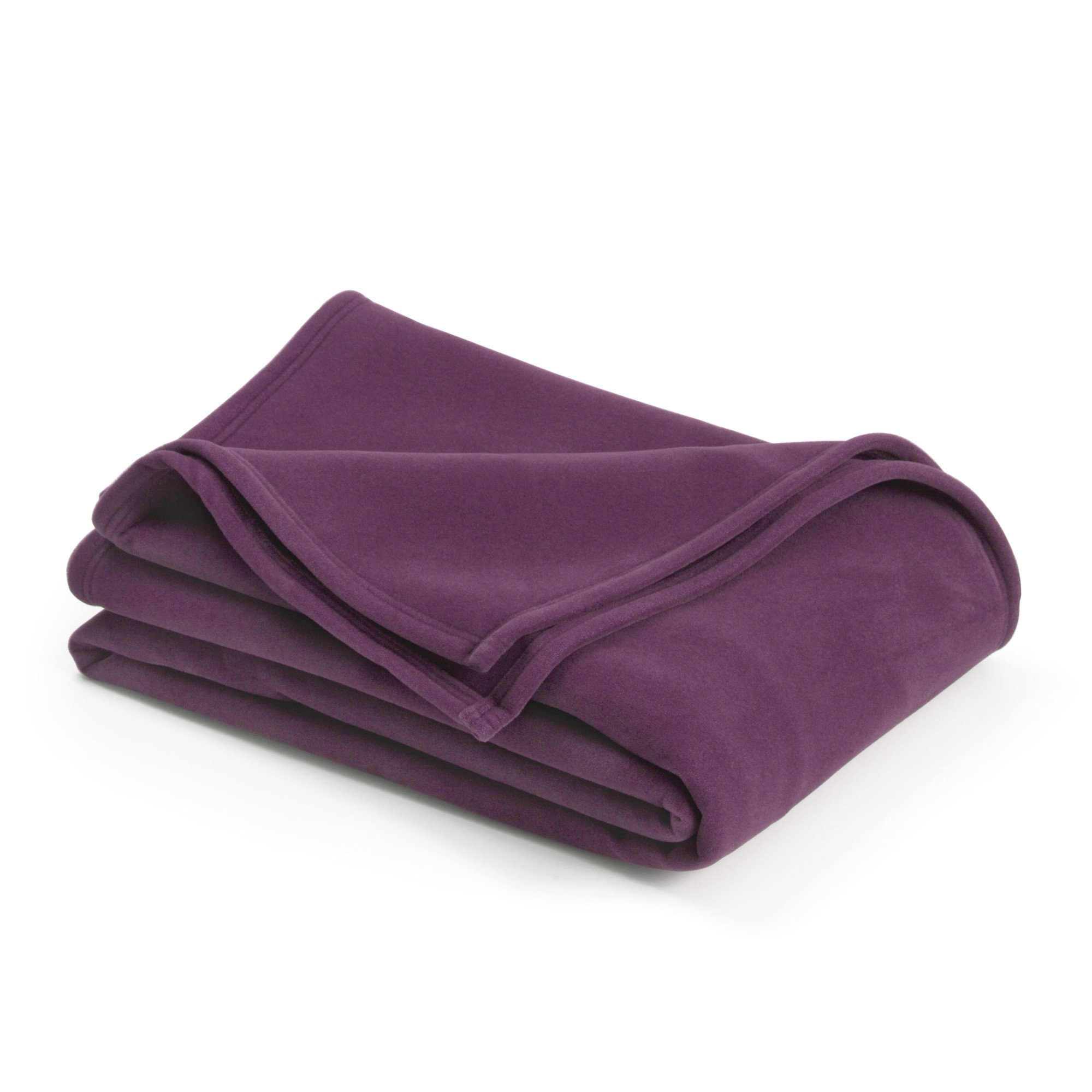 Vellux Original Blanket, Full/Queen 90 x 90, Deep Plum