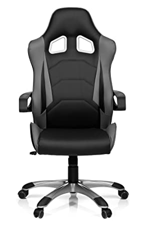 Hjh Racing Office Chair Car Swivel Pc stylish LeatherHigh Back ChairHome Racer IGreyFaux Pro Office621835Gaming Computer Sport dCBxeo