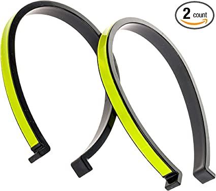 2 x Bicycle Reflective Ankle Leg Bind Trousers Pant Band Clips Strap Green