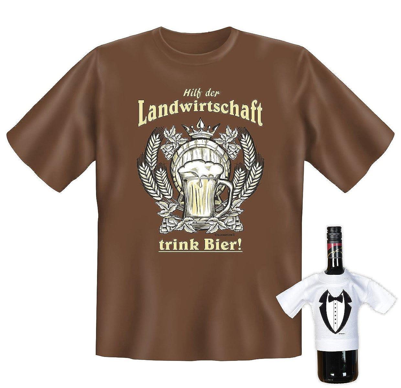 sabuy T-Shirt - Hilf der Landwirtschaft - Trink Bier - lustiges ...