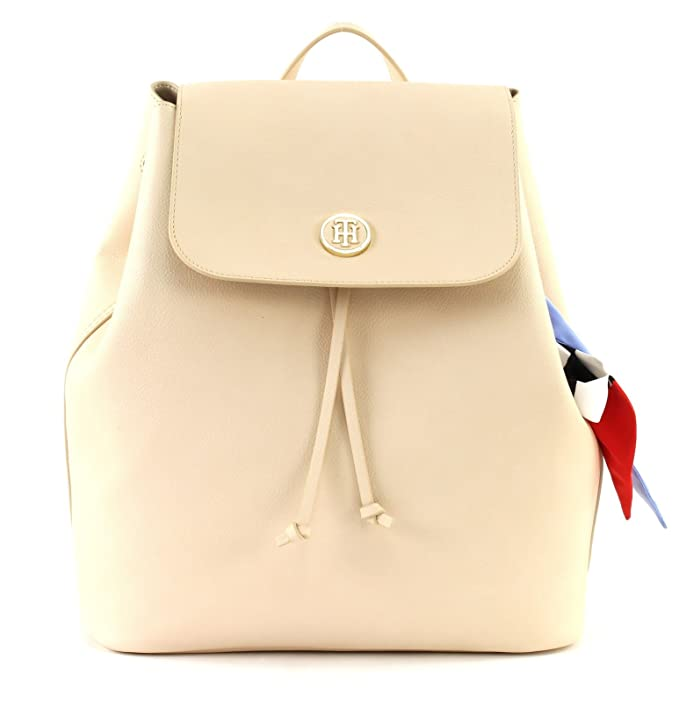 TOMMY HILFIGER AW0AW05125 CHARMING TH BACKPACK MOCHILA Mujer SAND UNI: Amazon.es: Zapatos y complementos