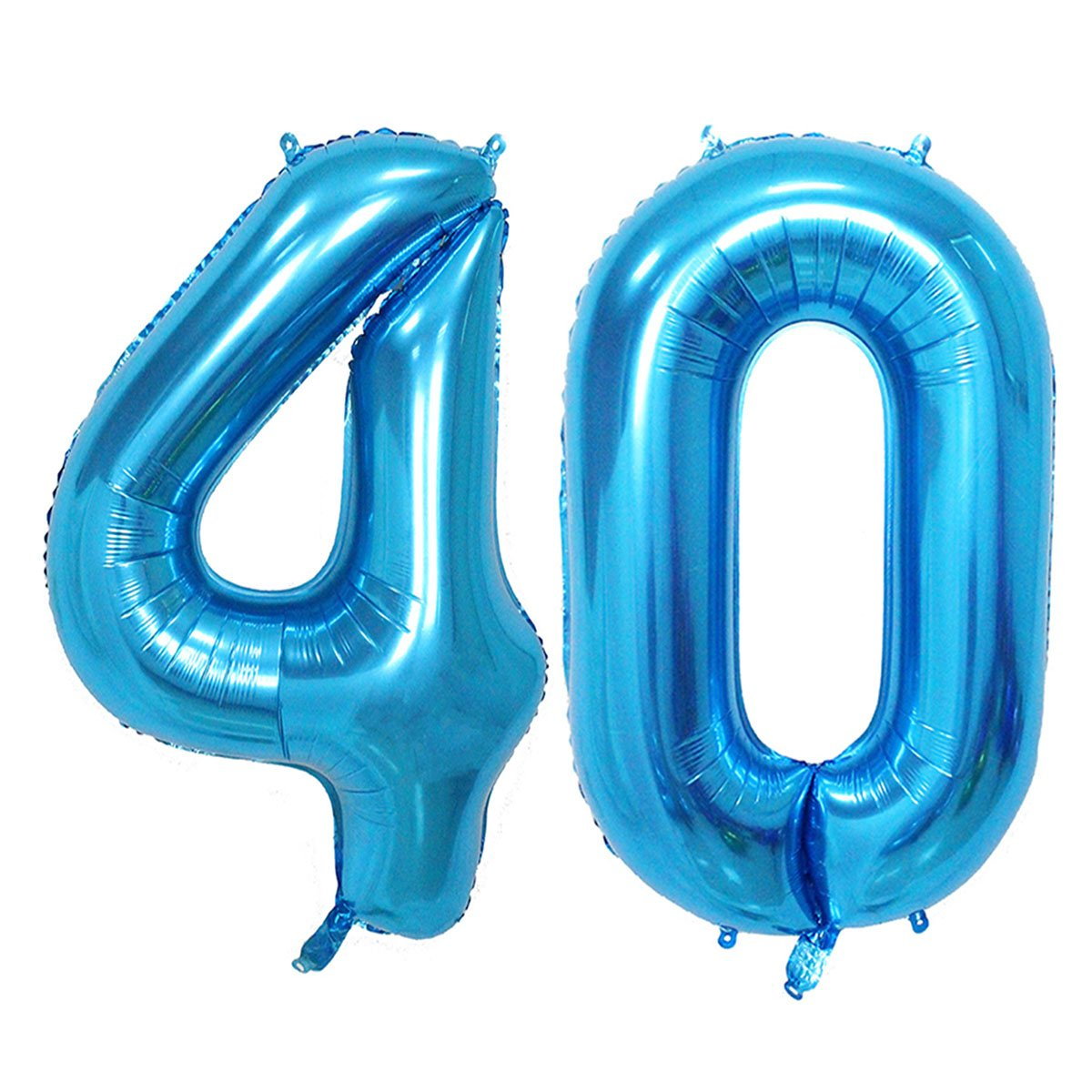Amazon Number 40 Blue Foil 40inch Jumbo Digital Balloons 40th Birthday Decoration For Men Big Balloon Party Supplies Kitchen Dining