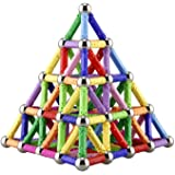 ELONGDI 130 Pieces - Magnetic Building Sticks Building Blocks Set, Magnet Educational Toys Magnetic Blocks Sticks…