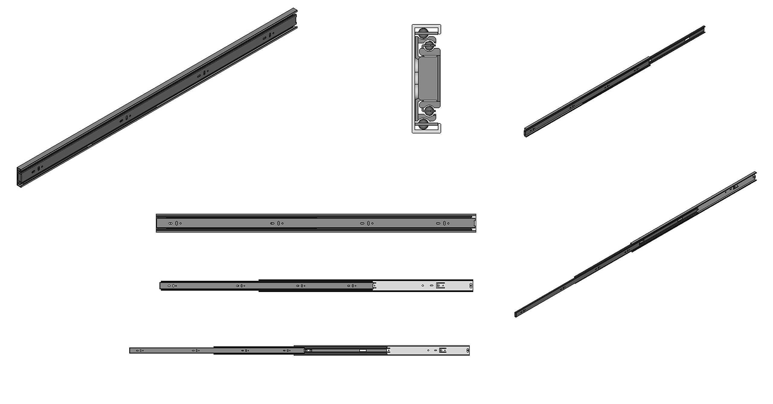 Firgelli Automations 30'' Guide Rail 400 lb Capacity