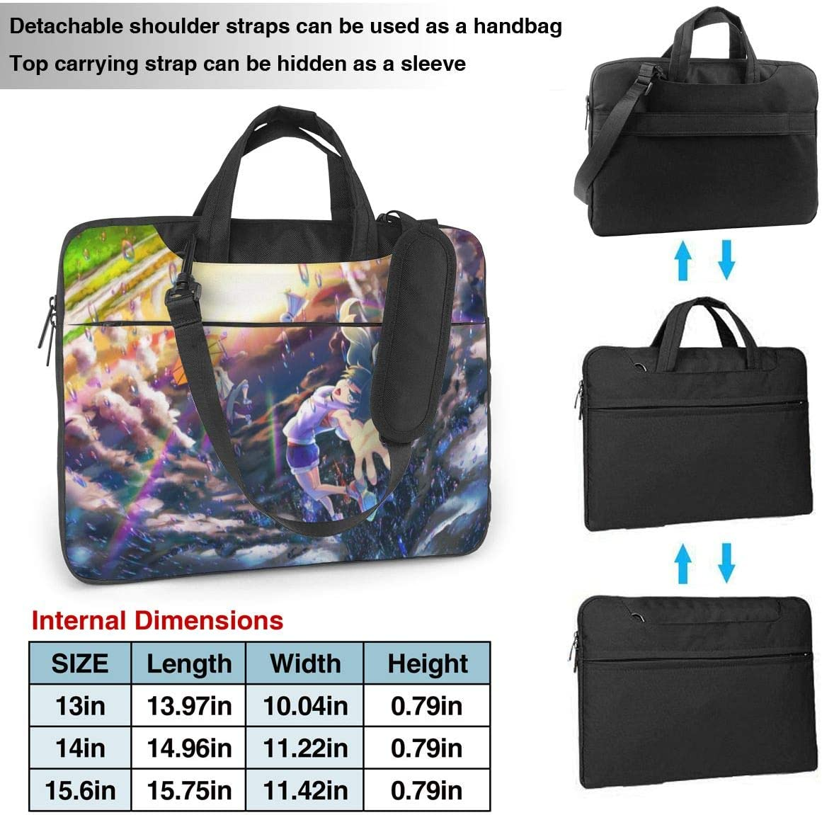 Laptop Sleeve Bag Anime Weathering with You Laptop Sleeve Case Cover Notebook Sleeve Case 15.6 inchTablet Briefcase