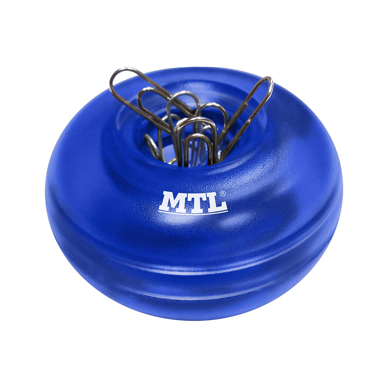 Azul Portaclips imantado con 20 clips Dohe