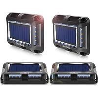 Luces Solares Led Exterior, MEIHUA 20 LEDs Luces Solares Exterior Jardin, IP67 Impermeable, Luces de Tierra luminación…