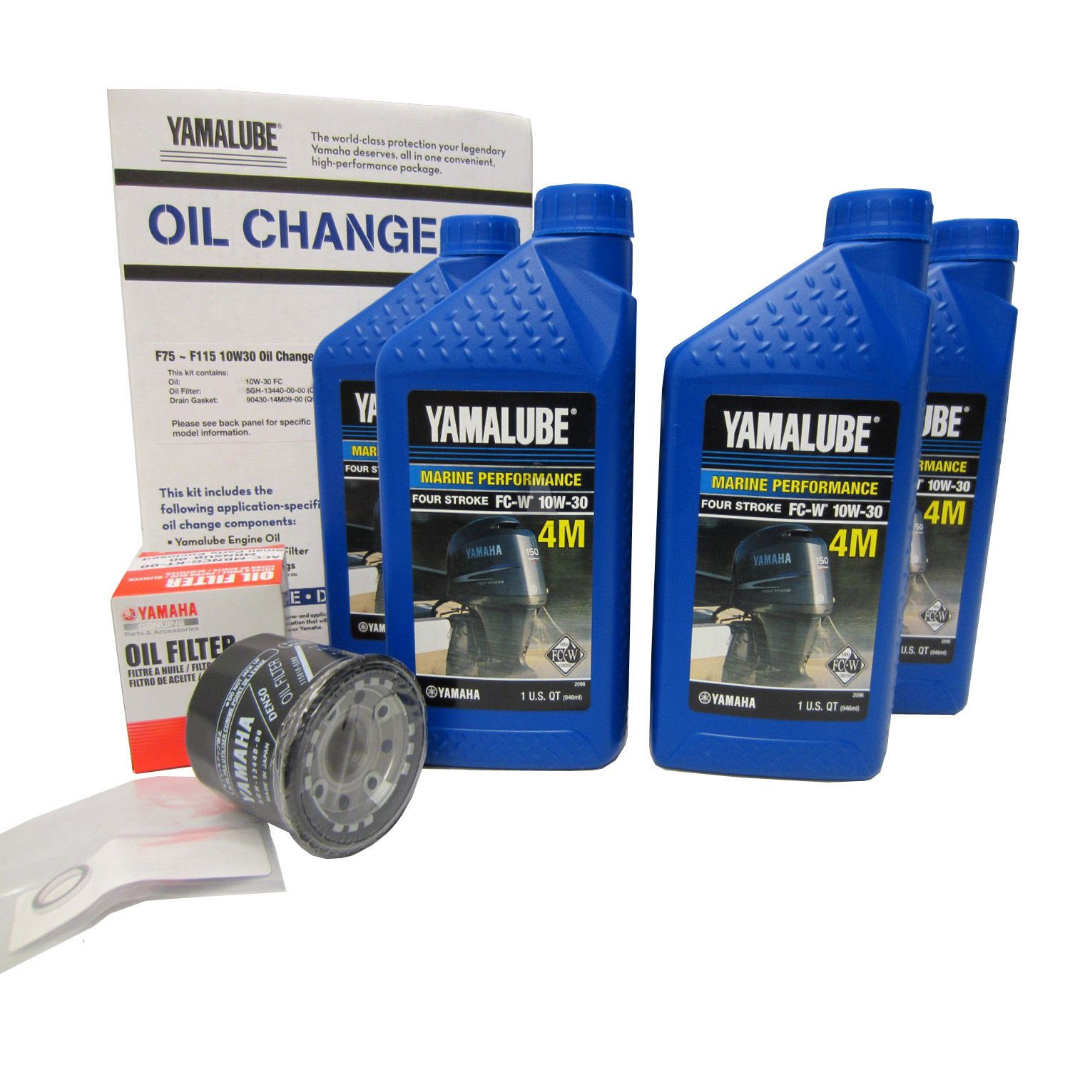 Yamalube F75 F115 Outboard Oil Change Kit Qty 4 Yamaha Fuel Filter Automotive