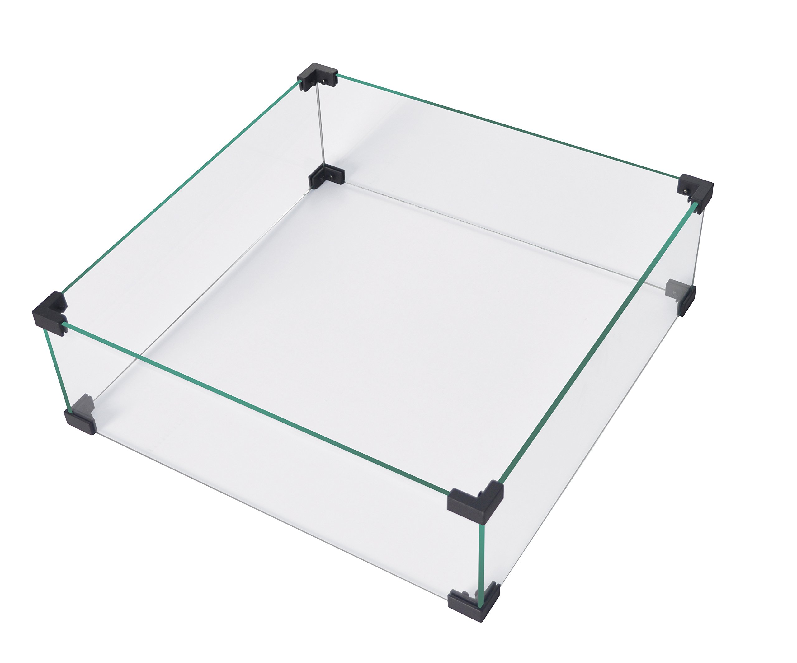 LEGACY HEATING Glass Wind Guard Propane Fire Pit Table (Glass)