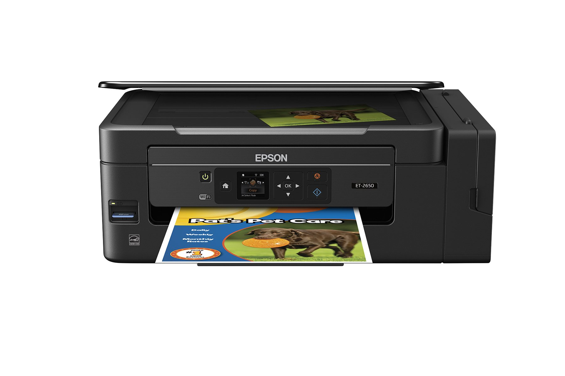 Epson Expression ET-2650 EcoTank Wireless Color All-in-One Supertank Printer with Scanner and Copier by Epson