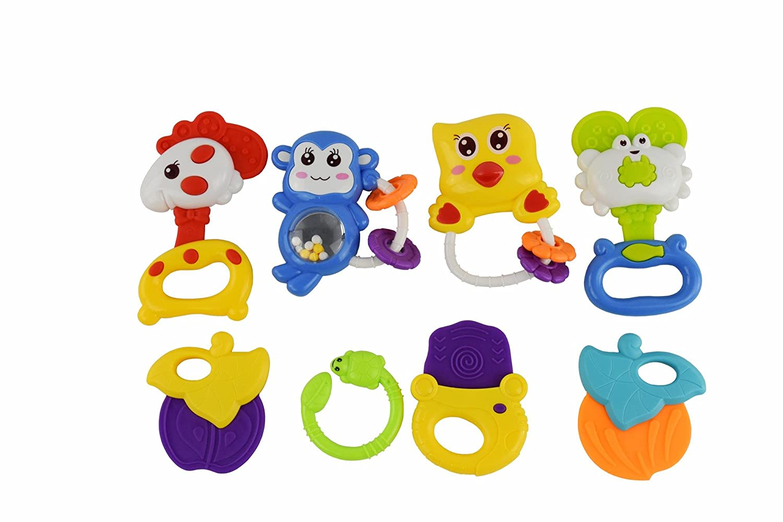 独創的 Juboo Rattle paradise-8pcs Baby Rattle &ベビーTeether &ベビーTeether Toys w Baby/フィーダーボトル、100 %赤ちゃんの安全 B01I7UDQU0, 池田屋質店:6d78a909 --- clubavenue.eu