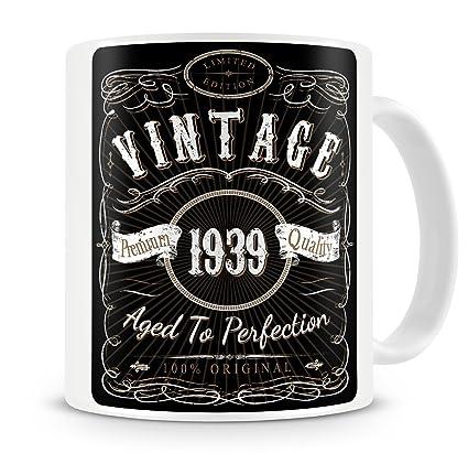 80th birthday Gifts For Women Coffee Mug 80th Birthday Gifts For Men Gift Vintage Bourbon 1939 80th Birthday