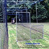 L-Screen 7' x 7' Professional Baseball Safety Frame & X-Heavy 90ply Net L Screen
