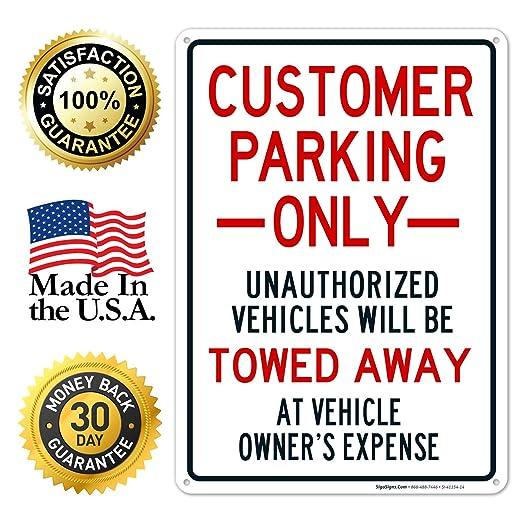 Amazon.com: Señal de aparcamiento para cliente, solo la ...
