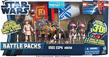 Star Wars Episode 1 Mos Espa Arena Battle Packs - Juego de mesa con figuras: Amazon.es: Juguetes y juegos