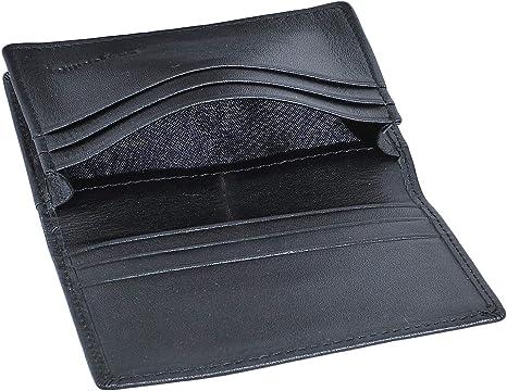 Black Genuine Leather Wallet  Front Pocket Men Card Holder Id Credit
