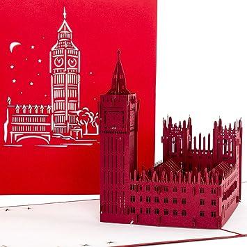 Carte Anniversaire Londres.Pop Up Carte Carte De Londres Big Ben Palace Of