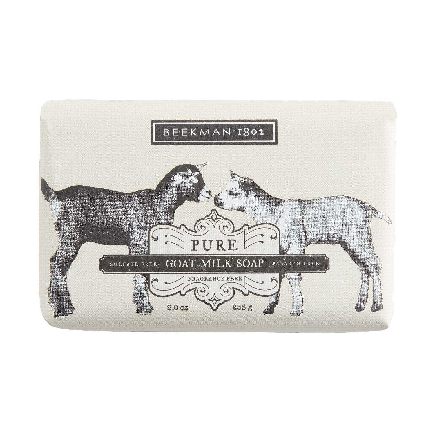 Beekman 1802 - Bar Soap - Pure Goat Milk - Fragrance-Free Moisturizing Goat Milk Cleansing Bar for Hands & Body - Rich in Exfoliating Lactic Acid, Great for Sensitive Skin - Goat Milk Bodycare - 9 oz