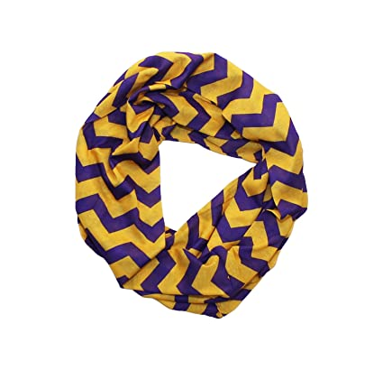 new arrivals b93ff 6cd09 Purple & Gold Chevron Infinity Scarf