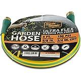"SuperHandy Garden Lead-in Water Hose 5/8"" Inch x 5' Foot Heavy Duty Premium Commercial Ultra Flex Hybrid Polymer Max…"