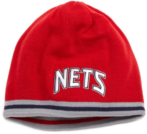 NBA Reversible Knit Hat - Kc35Z, New Jersey Nets, One Size , New Jersey Nets , Dark Navy/Red