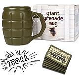 Mano di Granate Tazza Grande XXL di Design Hand Grenade Gag 790ML