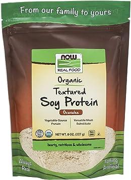 Con textura orgánica de proteína de soja, gránulos, a 8 oz (227 g) - Now Foods
