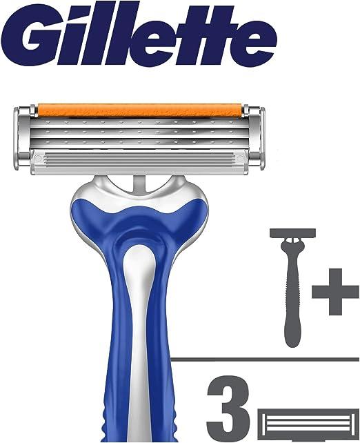 Gillette Sensor Excel Maquinilla de afeitar para hombre + 2 ...