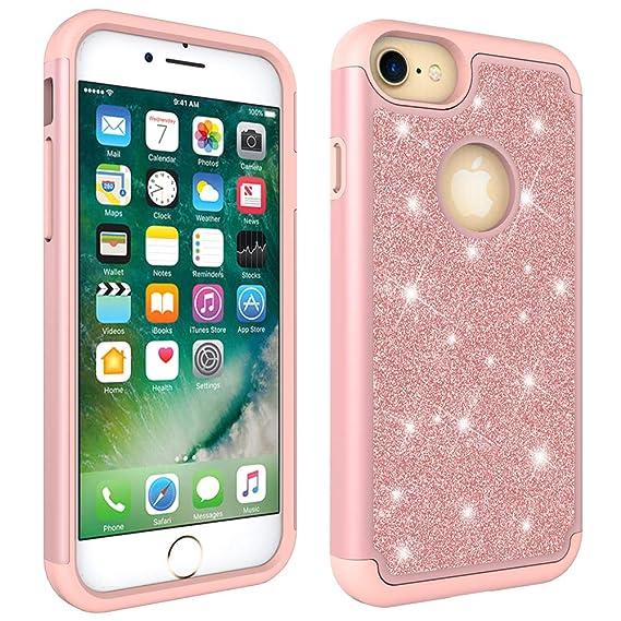 fc688b444 Amazon.com: iPhone 6/6S/7/8 Case, Dooge Luxury Glitter Sparkle Shiny ...