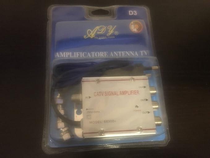 619 982 ANTENA AMPLIFICADOR DE SEÑAL DIGITAL TERRESTRE TV CATV SEÑAL DE SALIDA 3