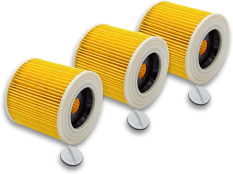 vhbw 3x filtro de cartucho para aspiradora, robot aspirador ...