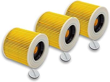 vhbw 3x filtro de cartucho para aspiradora, robot aspirador multiusos Kärcher NT27/1, SE 4001, SE 4002, VC6000, WD 2.200, WD 2500 M, WD 3.200: Amazon.es: Hogar